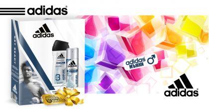 Adidas Adipure Комплект Душ гел 250 ml + Дезодорант 150 ml - Мъжки